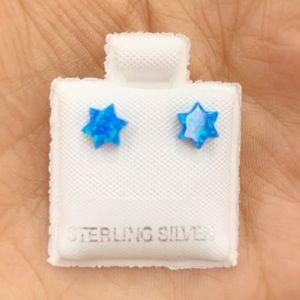 Sterling silver Australian opal studs